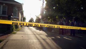 Police line tape crime scene