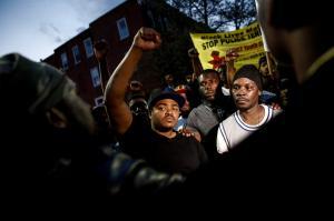 Freddie Gray protest