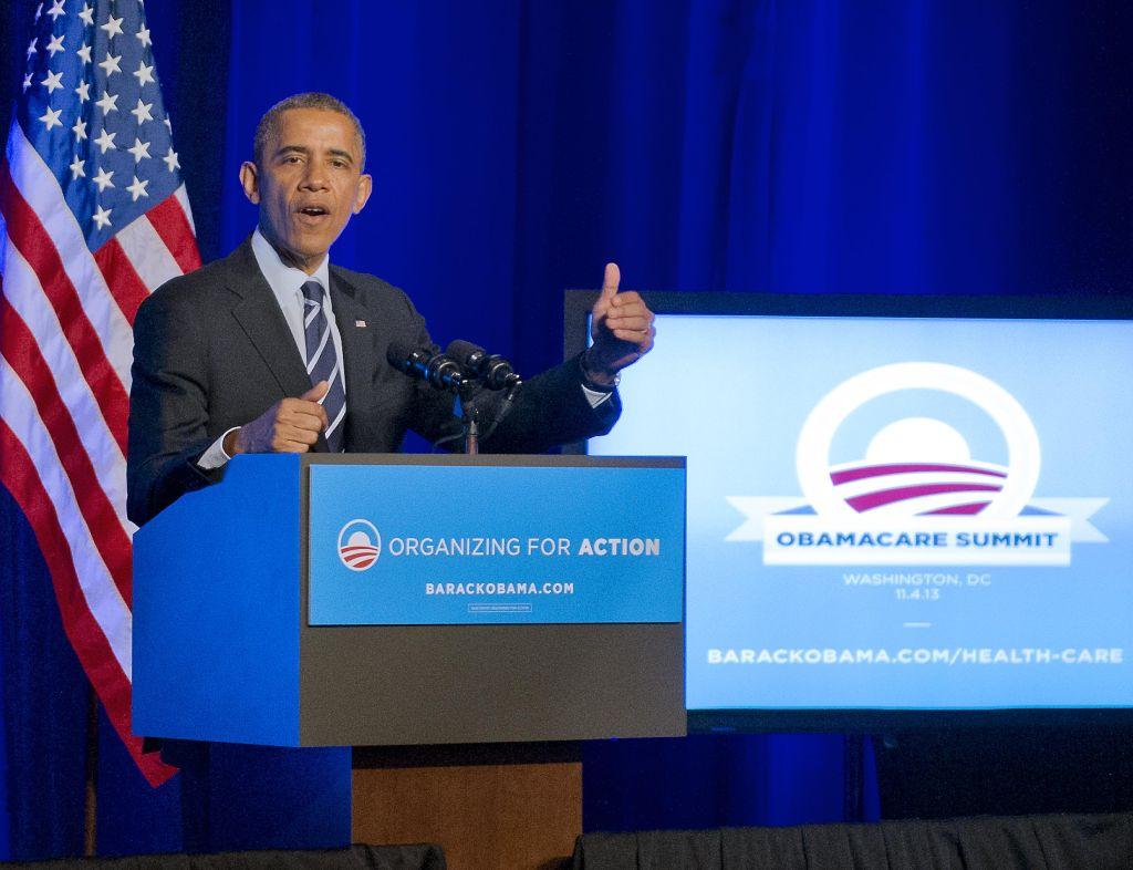Obama Attends OFA Obamacare Summit