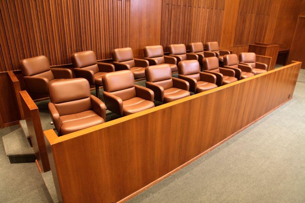 Courtroom Jury Box