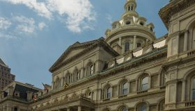 Imposing architecture of the Baltimore City Hall, Baltimore, Maryland, USA