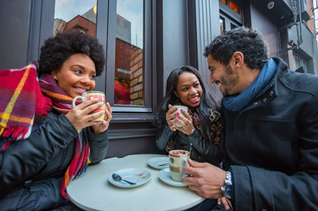 Young Friends Having Fun at a Cafe
