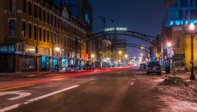Downtown Columbus at night
