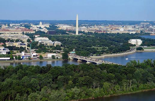 Panoramic Aerial View of Washington DC
