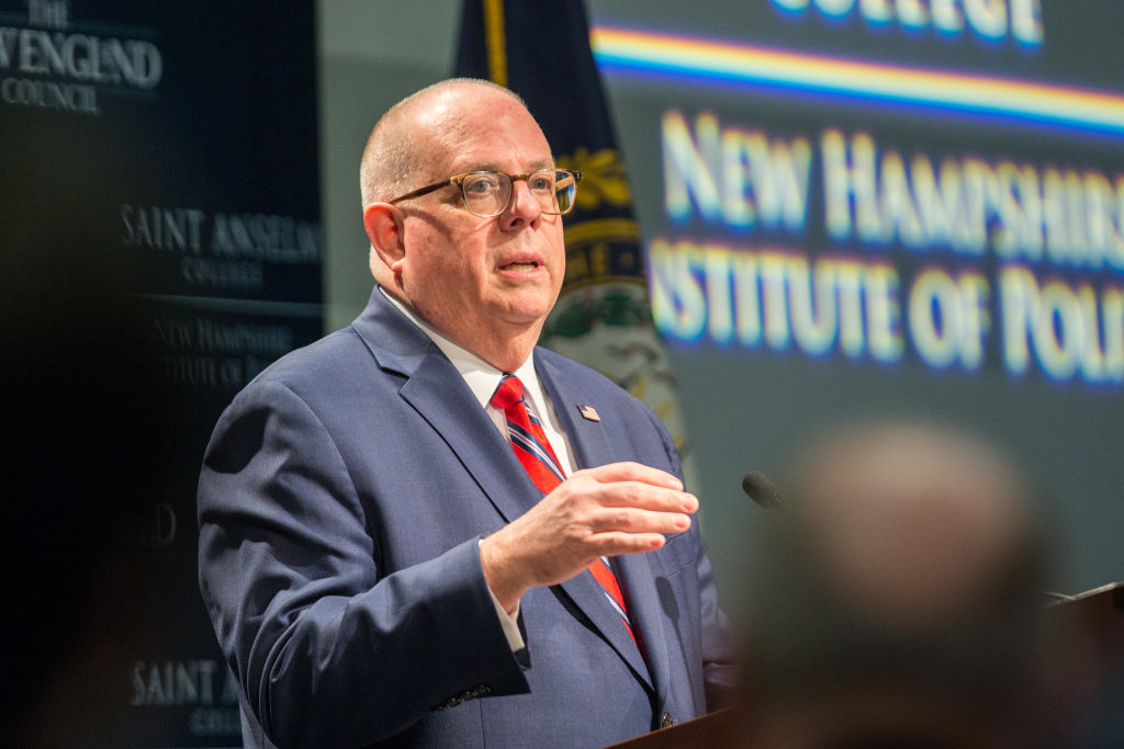 GOP MD Governor Larry Hogan Speaks In NH As He Mulls Presidential Run