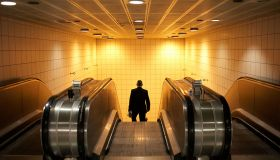 England - London - Escalator commuter