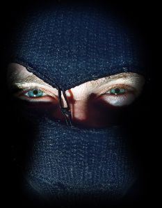 A masked burglar, 22 August 2000. SMH Picture by TANYA LAKE