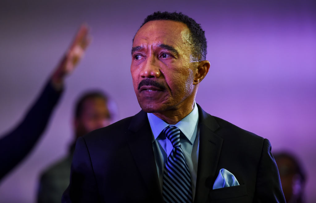 BALTIMORE, MD - DECEMBER 8: Kweisi Mfume speaks during a servic