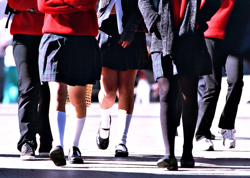 Generic Private school students in uniform on 29 May 2000. AFR GENERICS Picture