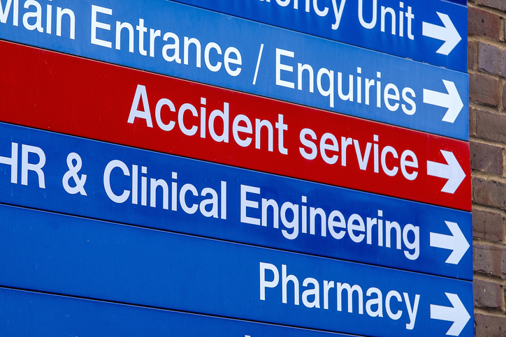 Generic UK Hospital department directions.