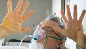 (COVID-19), desperate man going through the coronavirus quarantine at home