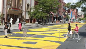U.S.-NEW YORK-BLACK LIVES MATTER-STREET MURAL