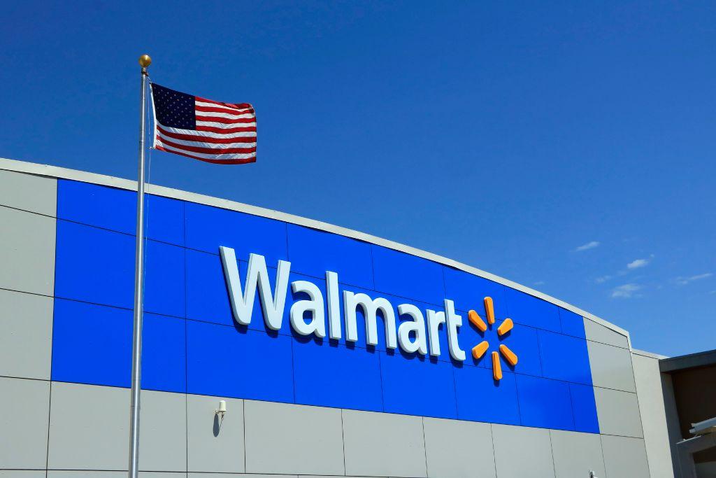 Wal-Mart logo at store entrance