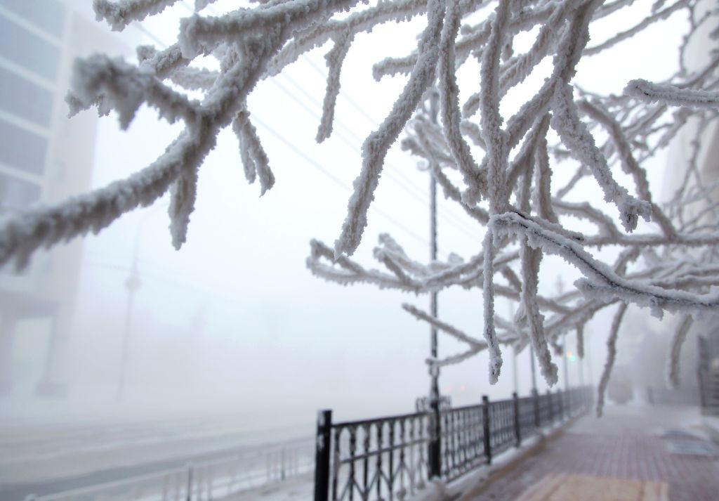 Winter in Yakutsk, Russia