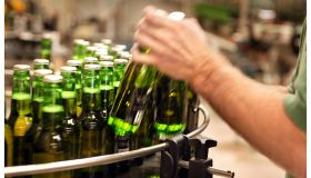 Generic green beer bottles, 2 February 2006. AFR Picture by JIM RICE