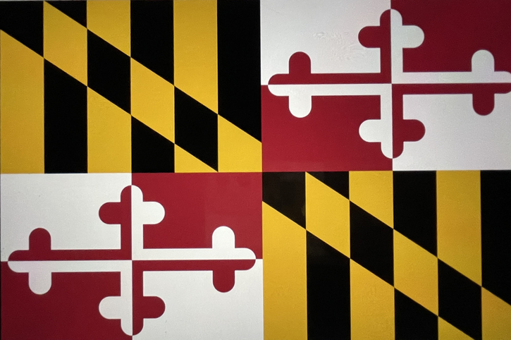Official flag of the State of Maryland