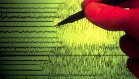 Seismograph Showing Earthquake Activity