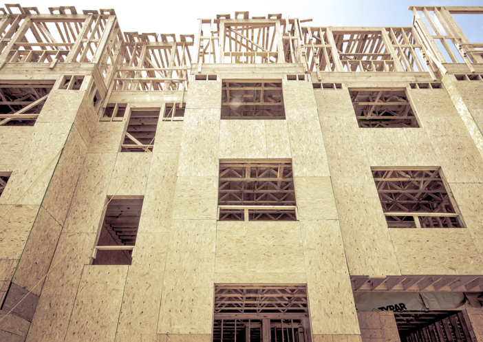 Construction-Wood Frame Modern Apartments
