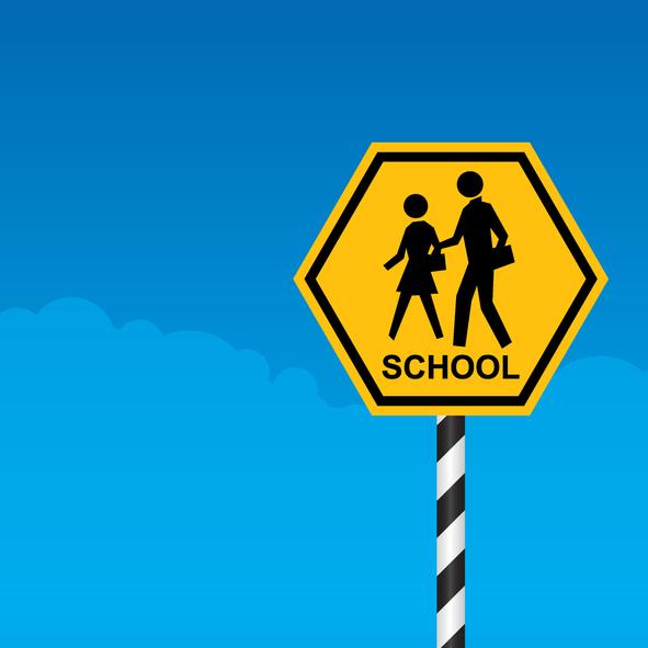 School Zone Crossing Sign