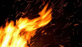 Generic flames of a fire, 16 February 2006. AFR Photograph by JESSICA SHAPIRO